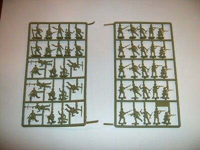 ESCI 1/72 Scale WWII Afrika Corps Soldiers Figures [206] Full Set Sprued