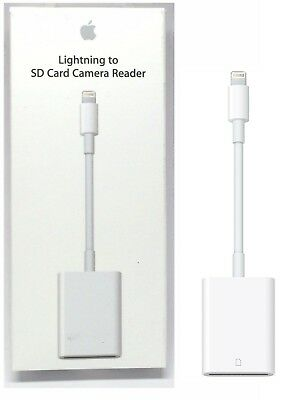 Genuine Apple Lightning to SD Card Camera Reader White MJYT2AM/A NEW OP
