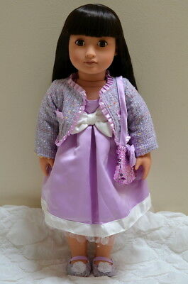Our Generation 18 inch Doll May Lee - Asian mould, Dark brown hair, soft body.