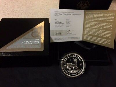 2017 South Africa 1 oz. Silver Krugerrand Proof Coin