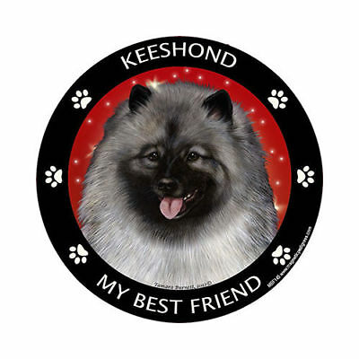 My Keeshond Is My Best Friend Dog Car Magnet