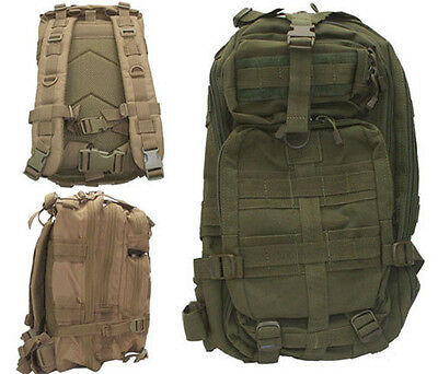Level III LV3 Molle Assault Pack Backpack w/ Hydration Carrier - OD Green