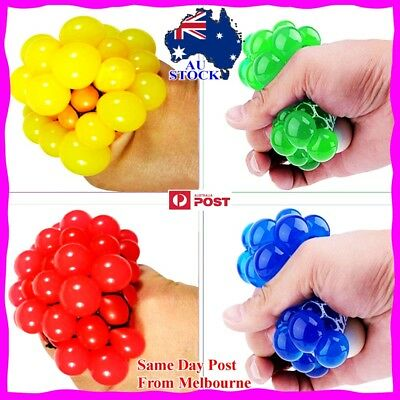 Anti Stress Face Reliever Grape Ball Autism Mood Squeeze Relief ADHD Funny To