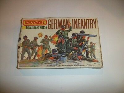 Matchbox 1/76 Scale WWII Vintage German Infantry Figures Complete Boxed Set
