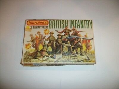 Matchbox 1/76 Scale WWII Vintage British Infantry Figures Complete Boxed Set