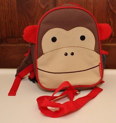 VGUC Skip Hop Marshall Monkey Zoo Safety Harness Backpack with Side Mesh Pocket