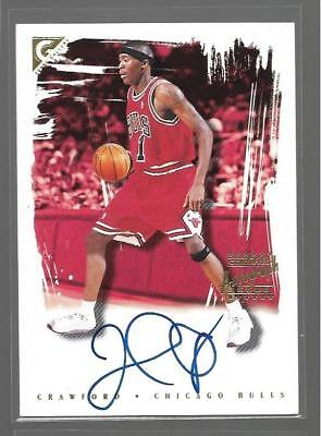 Jamal Crawford Auto Rookie Sp 2000-01 Topps Gallery Rc Autograph