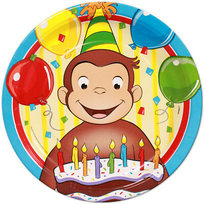 Set Of 12 Curious George Birthday 14X8 Size Cake Bags