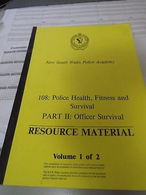 Obsolete 1987 NSW Police Academy Police Health, Fitness and Survival Manual