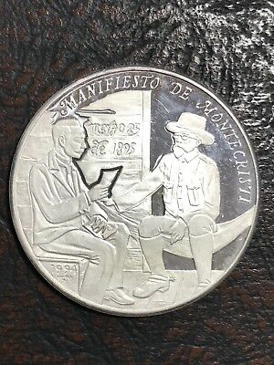 1994 Silver 1 Oz  10 Pesos Caribe Proof  Scarce And Rare.