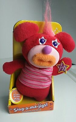 New Sing-A-Ma-Jigs Singamajigs Red Plush Singing interactive toy FREE SHIPPING!