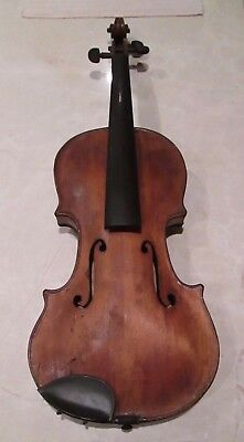 Old Antique Violin 19Th Century Found In A Box In An Estate