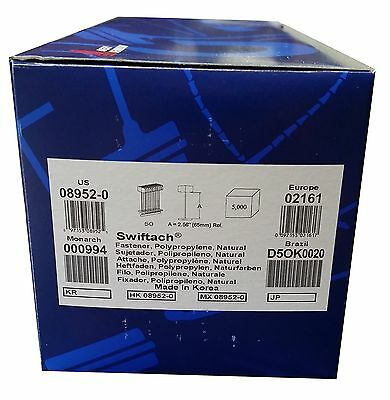 "Avery Dennison 08952 3"" Swiftach Tagging Gun Fasteners Box of 5000"