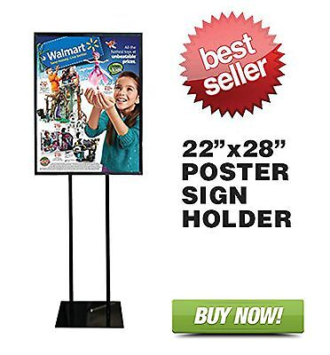 """Floor Standing Poster Display Stand Sign Holder 22"""" X 28"""""""