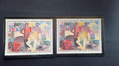114.   1961. Timbres** N° 1322  Variete.