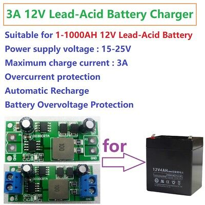 3A 12V Lead-Acid Battery Accumulator Storage Cell Charger Module UPS Car Solar
