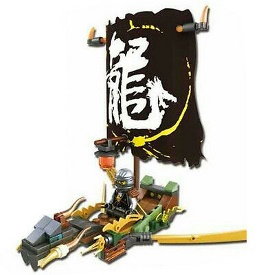 1 SET Ninjago BLACK Dragon Boat Ninja Building Blocks Mini Figures Toys Fit Lego