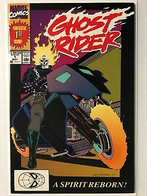 1990 Marvel GHOST RIDER v2 # 1, NM+ (9.6), Dan Ketch & Deathwatch 1st Appear!