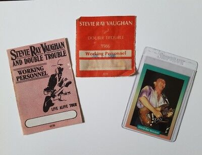 STEVIE RAY VAUGHAN Live Alive Tour Working Personnel/Backstage Pass/Rockcard LOT