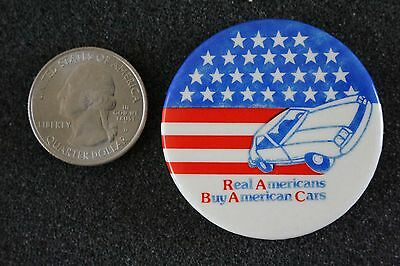 Real American Buy American Cars RABAC Grass Roots Pin Pinback Button #22577