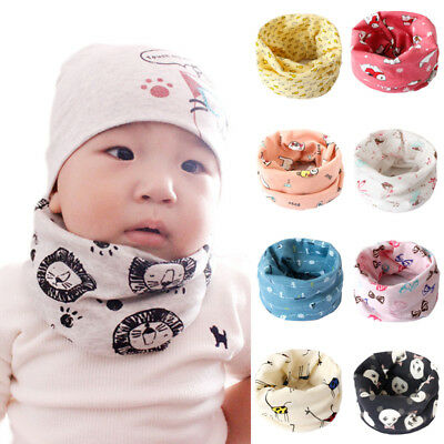 Hot Cute Cotton Kid Baby Boy Girl Bandana Neck Gaiter Snood Headwear Tube Scarf