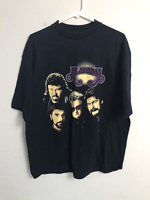 Vintage Og 1992 Alabama Country Music Band Concert Tshirt Size Xl Double Sided