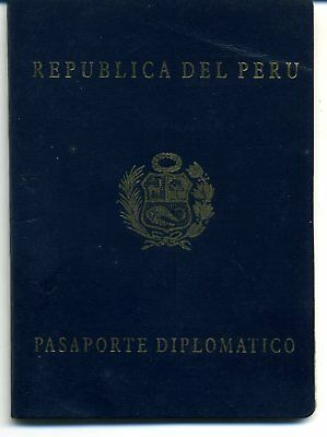 1999 Diplomatic Peru Expired Canceled Collectible Passport, Travel Document
