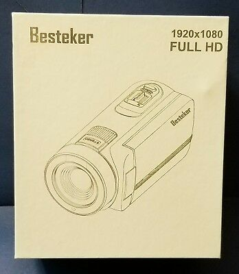 Besteker Camcorder Camera Full HD1080P 24MP 16X Digital Zoom, with  270°🔃Screen