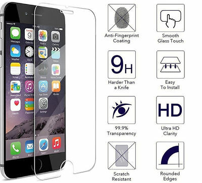 REAL TEMPERED GLASS SCREEN PROTECTOR iPhone 6 6s 7 7Plus 8 8Plus & X $1.99 SALE