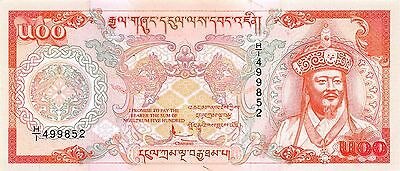 Bhutan  500 Ngultrum  ND. 1994  P 21   Series  H/1  Circulated Banknote CH817ES