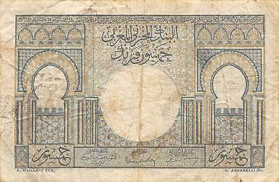 Morocco  50  Francs  2.12.1949  P 44  Series Z.10 Circulated Banknote FL0917T1