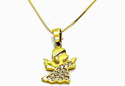 Collier Or Jaune 18 Kt 750 Ange