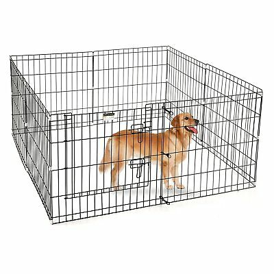 Portable Folding Pet Playpen Dog Puppy Fences Gate Home Indoor Outdoor Fence New