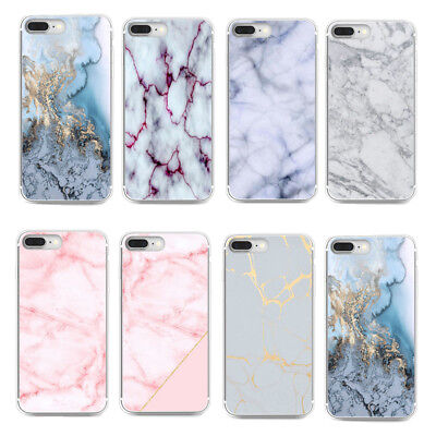 Patterned Marble Ultra Slim Rubber Soft TPU Silicone Back Case Cover For iPhone