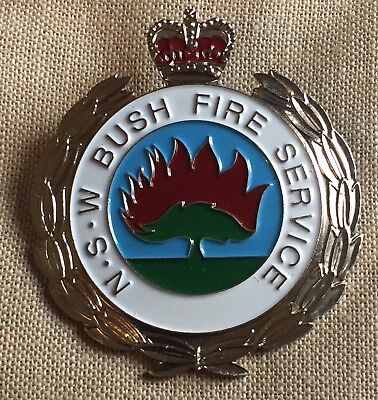 New South Wales Bush Fire Service Hat Badge