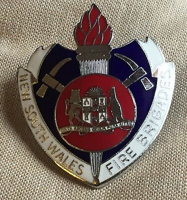 New South Wales Fire brigades Hat Badge Amor Sydney