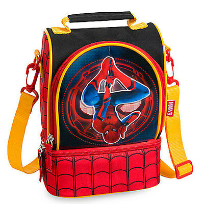 NWT Disney Store Marvel Spiderman Lunch Tote Box Bag School