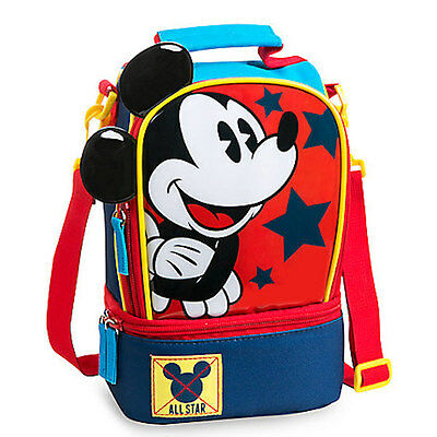 NWT Disney Store Mickey Mouse Lunch Box Tote Bag School
