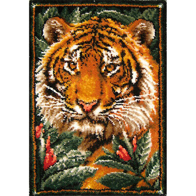 GEX Latch Hook Kit Rug tapestry Cushion DIY Craft Needle Embroidery Carpet Tiger