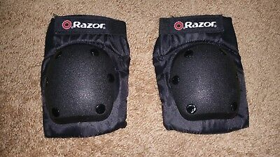 Razor Elbow Youth Size M Protection Pads Black Sport