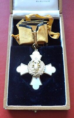 Greece Greek Commander of the Order of the Phoenix + box Silver medal badge