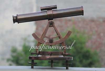 "Vintage Marine Full  Antique Alidate Telescope 12""  With Compass Ship Navigation"