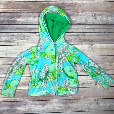 Toddler Size 4 Lilly Pulitzer Terry Cloth Full Zip Hoodie Sz 4