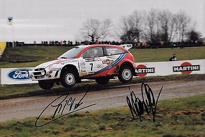 Colin McRae & Nicky Grist SIGNED 12x8  Ford Focus RS WRC  , RAC Rally GB 1999
