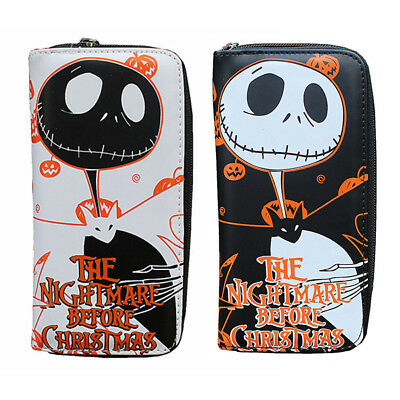 Lady Leather Clutch Wallet Long Card Holder Purse - Nightmare Before Christmas