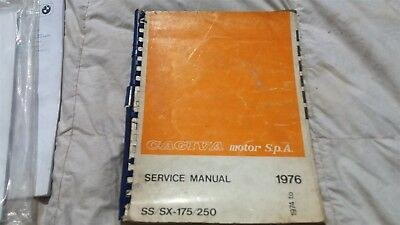 Cagiva Ss / Sx-175 / 250 Factory Service Workshop Manual 1976