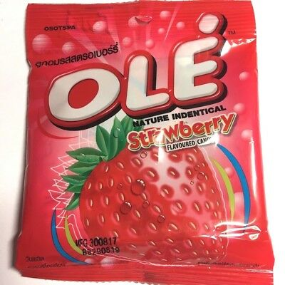 Thailand OLE Brand Strawberry Flavored  Sweet candy  19.6g.