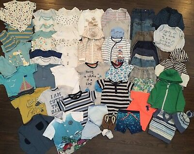 Baby Boys Clothes Bundle 6-9 Months Next Hand Knitted Over 50 Items