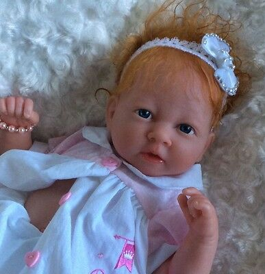 Beautiful Reborn Berenguer Baby Doll Rooted Hair   Bargain