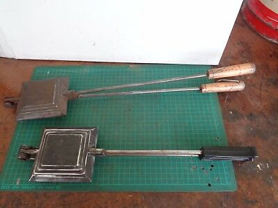 Vintage toasted sandwich makers x2, campfire or stove top, , jaffle irons